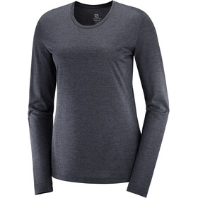 Salomon Agile Longsleeve T-Shirt Dames, black/heather/reflectiv